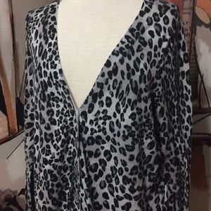 Lane Bryant Plus Size 16 Animal Print Cardigan